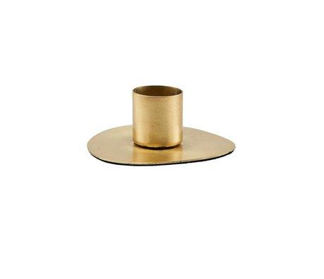 Housedoctor Bougeoir Cercle en laiton doré Ø7cm