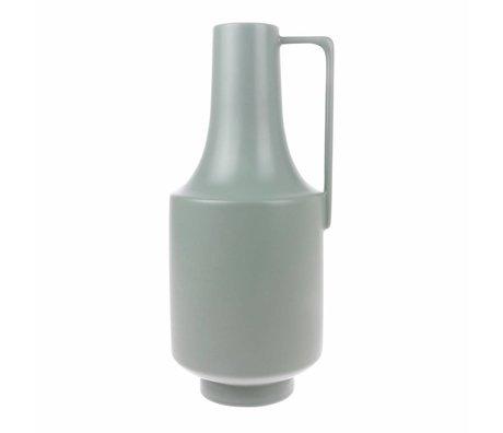 HK-living Vase mit Griffen mintgrün Keramik 19x19x41cm