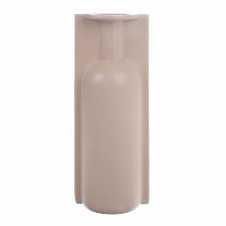 HK-living Vaas L met mal mat skin keramiek 13x9,5x35,5cm