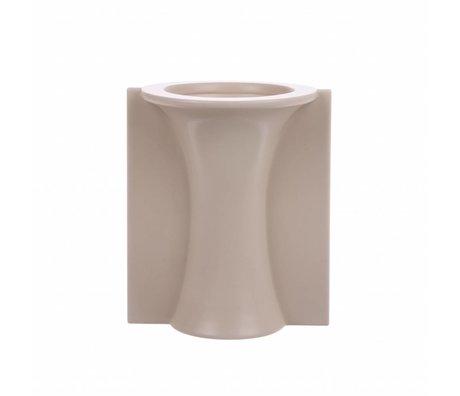 HK-living Vase M with mold mat skin ceramics 13x11,5x15,5cm