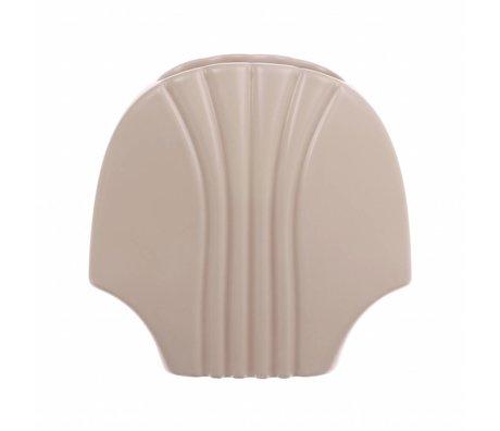 HK-living Vase L mat skin ceramics 19x10,5x18,5cm