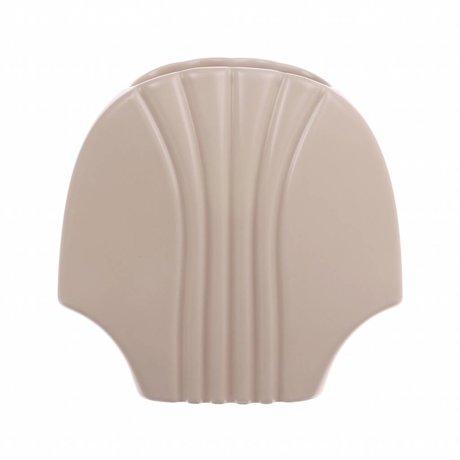 HK-living Vaas L mat skin keramiek 19x10,5x18,5cm