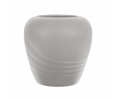 HK-living Vase L mat gray ceramics 19,5x19,5x19cm