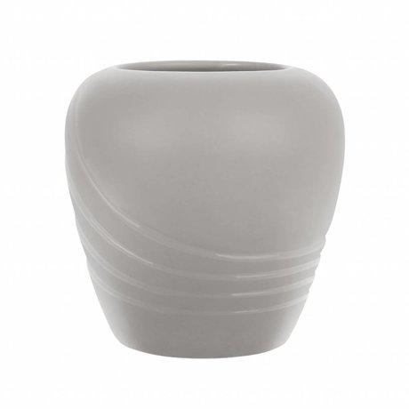 HK-living Vase L matt grau Keramik 19,5x19,5x19cm