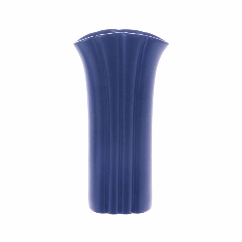 Vase S Mat Cobalt Bleu Ceramique 9 5x5 5x19cm Wonen Met Lef