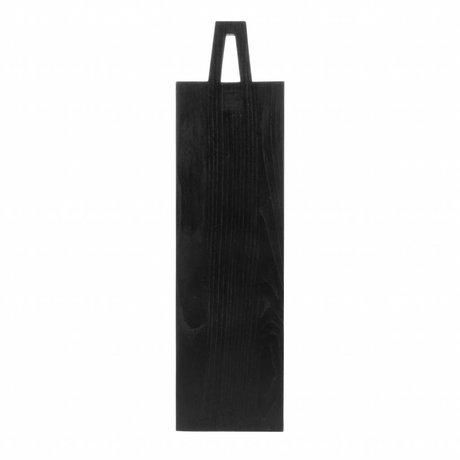 HK-living Broodplank vierkant M zwart sungkai hout 55x15x1,3cm