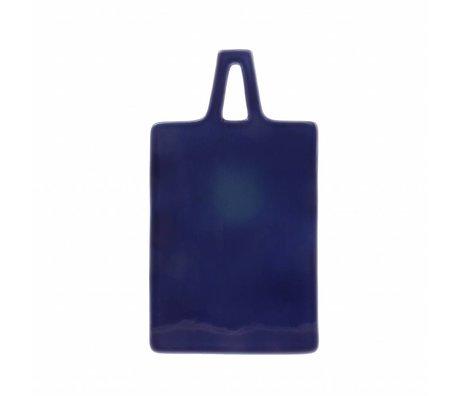 HK-living Schneidebrett kobaltblau Keramik 17x30x1cm