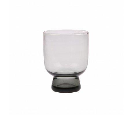 HK-living Trinkglas M Rauchgraues Glas 7,5x7,5x9,5cm