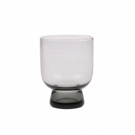 HK-living drinking glass M smoked gray glass 7,5x7,5x9,5cm