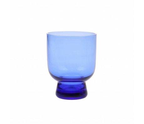 HK-living drinkglas M kobalt blauw glas  7,5x7,5x9,5cm