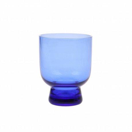 HK-living verre à boire M verre bleu cobalt 7,5x7,5x9,5cm