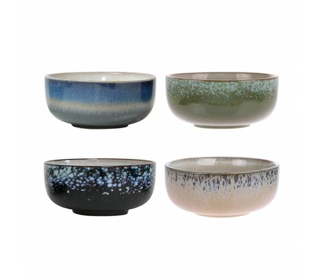HK-living Keramik-Tabletts 70-Stil-Set von 4