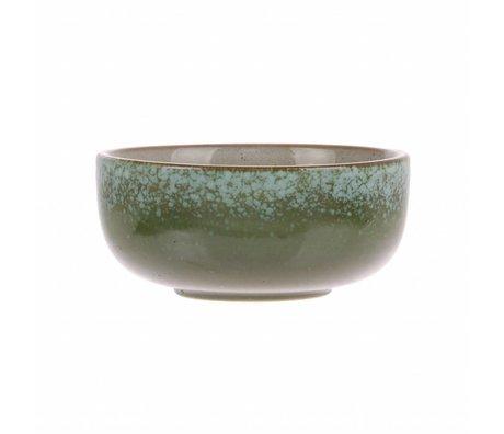 HK-living scale grass' 70's style multicolour ceramics medium 11x11x5cm