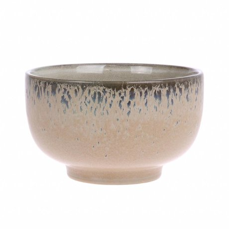 HK-living Maßstab Rinde '70 Stil multicolor Keramik 13,5x13,5x8cm