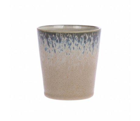 HK-living tasse en céramique à l'écorce style des années 70 7,5x7,5x8cm