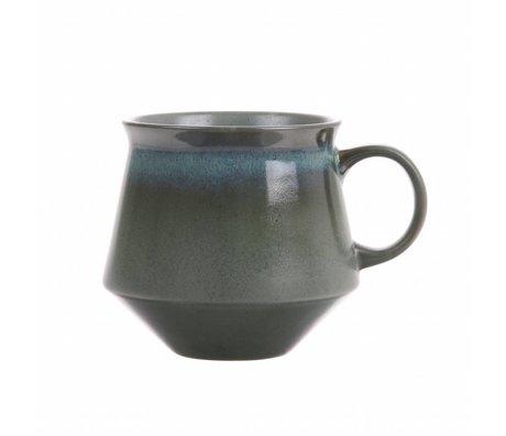 HK-living Teetasse XL Moos Keramik '70er Jahre Stil 14x11,5x10cm