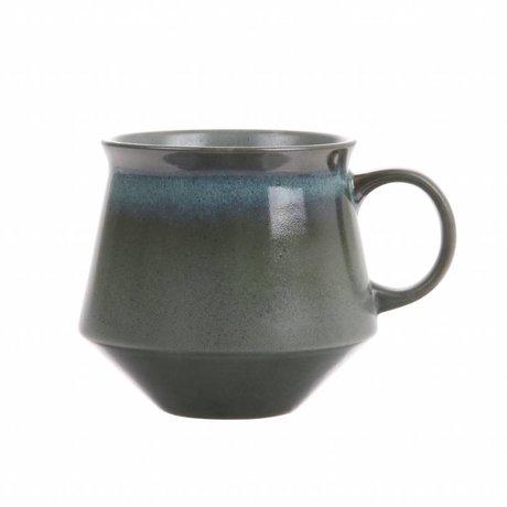 HK-living tasse à thé XL mousse céramique style '70' 14x11,5x10cm