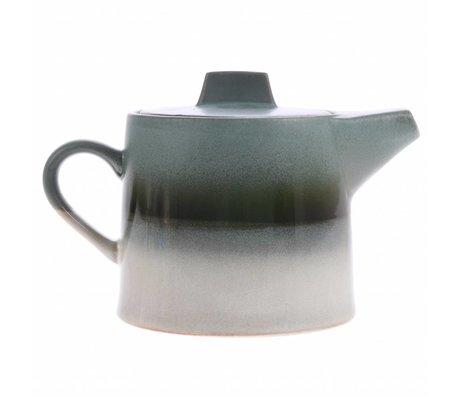 HK-living teapot glacier ceramics' 70's style 14x22,5x14cm
