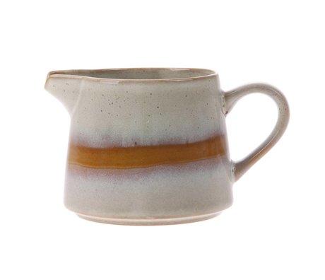 HK-living pot à lait en céramique de neige style années 70 14x11x10cm