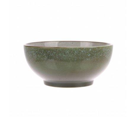 HK-living saladier herbe céramique style 70's 18x18x8cm