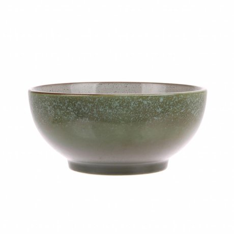 HK-living Salatschüssel Gras Keramik '70er Jahre 18x18x8cm