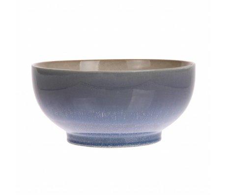 HK-living Salatschüssel L Ozean Keramik '70er Jahre Stil 23x23x10,5cm