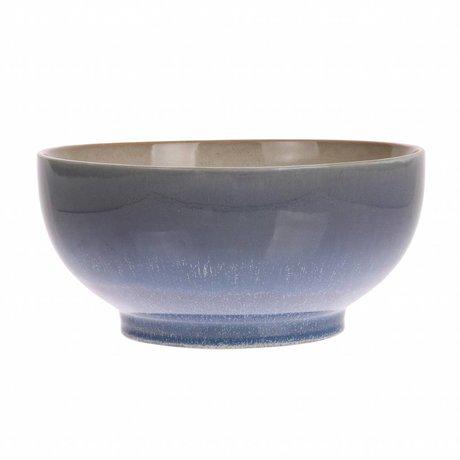 HK-living salad bowl L ocean ceramics' 70's style 23x23x10,5cm