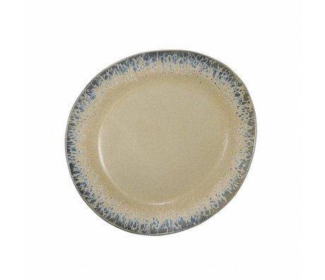 HK-living Frühstücksteller Rinde Keramik 70er Jahre Stil ø22cm