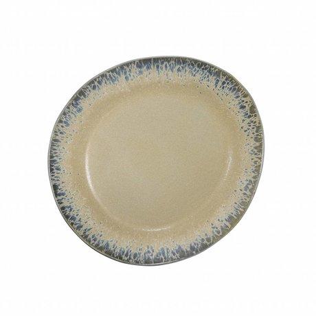 HK-living ontbijt bord bark  keramiek '70's style ø22cm