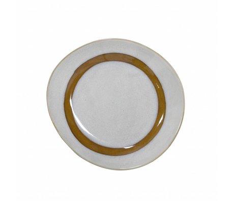 HK-living plaque de petit-déjeuner en céramique de style des années 70 ø22cm