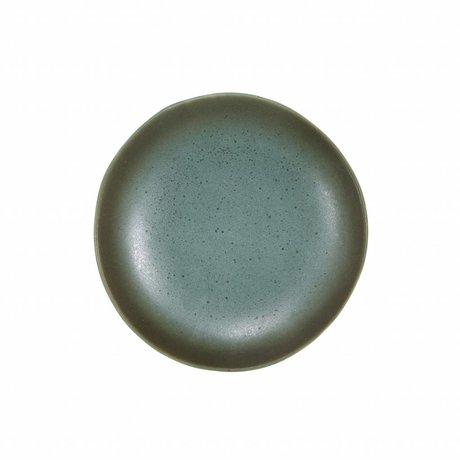 HK-living dessert plate moon ceramics' 70's style ø17,5cm