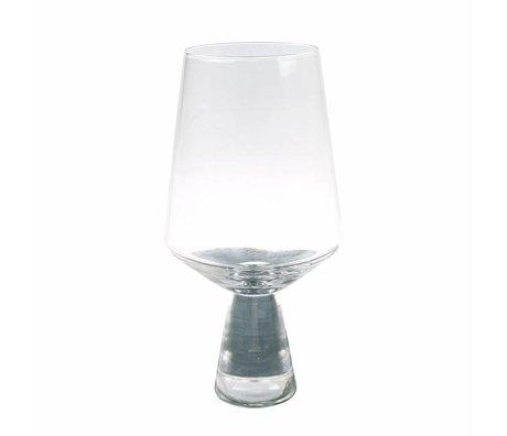 HK-living Weinglas transparentes Glas 6x6x16.5cm