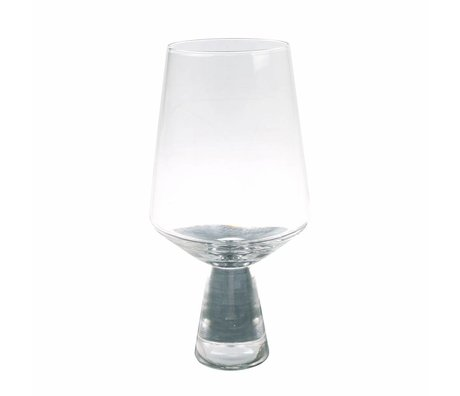 HK-living wijnglas transparant glas 6x6x16,5cm