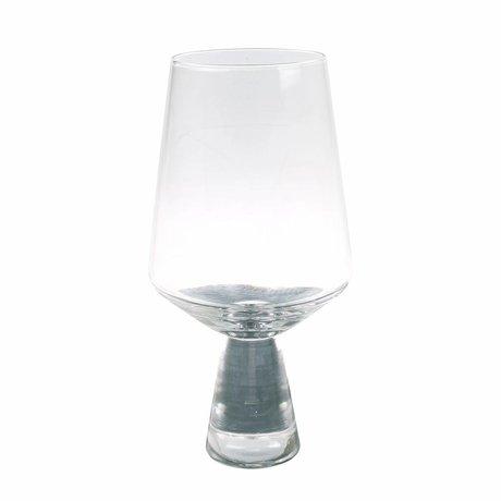 HK-living verre à vin verre transparent 6x6x16,5cm