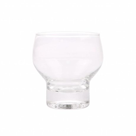 HK-living drinking glass transparent glass 9x9x9,2cm