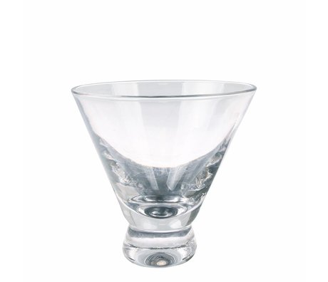 HK-living martini glas transparant glas 10x10x10cm