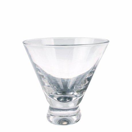 HK-living Martini-Glas transparentes Glas 10x10x10cm