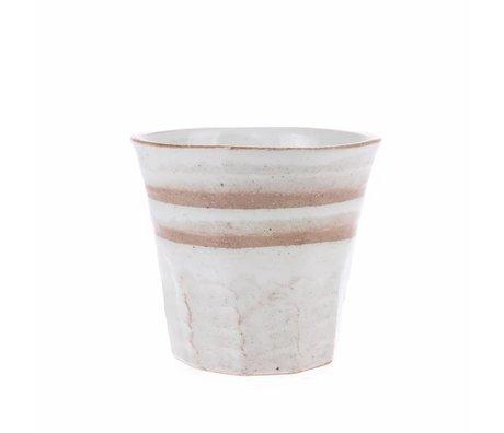 HK-living tasse blanc céramiques terra bold & basic 9,1x9,1x8,4cm