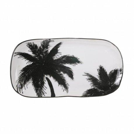 HK-living bord met palmen keramiek bold & basic 25x13x1,5cm