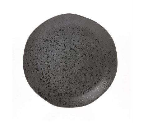 HK-living dinner plate gray ceramic bold & basic 28,5x28,5x3cm