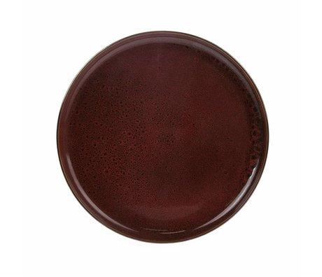 HK-living Teller Cerise Keramik Fett & Basic 28,5x28,5x3cm