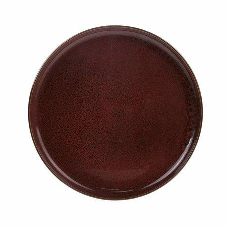 HK-living diner bord cerise keramiek bold & basic 28,5x28,5x3cm
