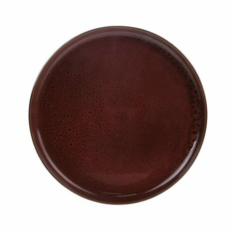 HK-living dinner plate cerise ceramics bold & basic 28,5x28,5x3cm
