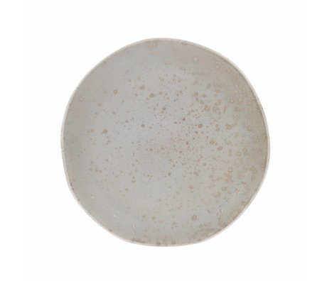 HK-living dinner plate mint ceramic bold & basic 28,5x28,5x3cm