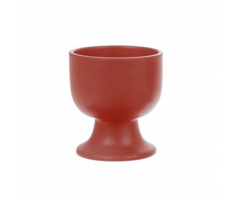HK-living tasse sur base rouge céramique gras & basique 8.5x8.5x9.5 cm