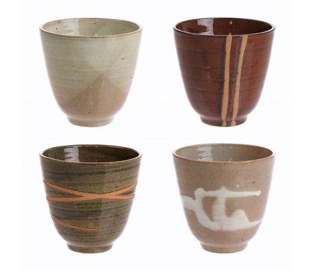 HK-living tassen Yunomi keramisches kyoto Set von 4