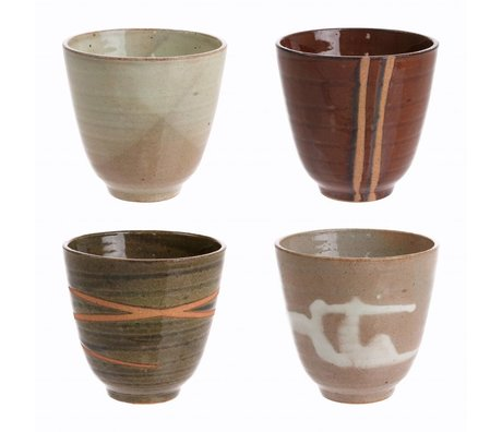 HK-living tasses Yunomi céramique kyoto lot de 4