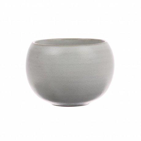 HK-living mok rond wit keramiek kyoto 8x8x6cm