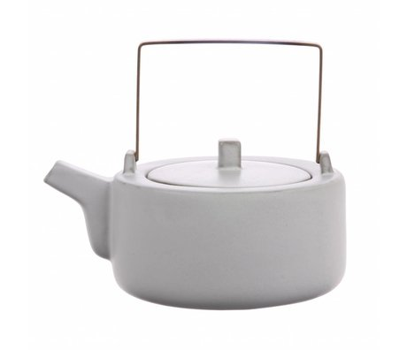 HK-living teapot white ceramic kyoto 18,5x14x11cm