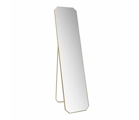 HK-living Spiegel stehend Gold gebürstet Messing 41x175x2.5cm